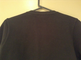 Black Size Large 100 Percent Cotton Button Up Front Short Blazer Top by Evie image 6