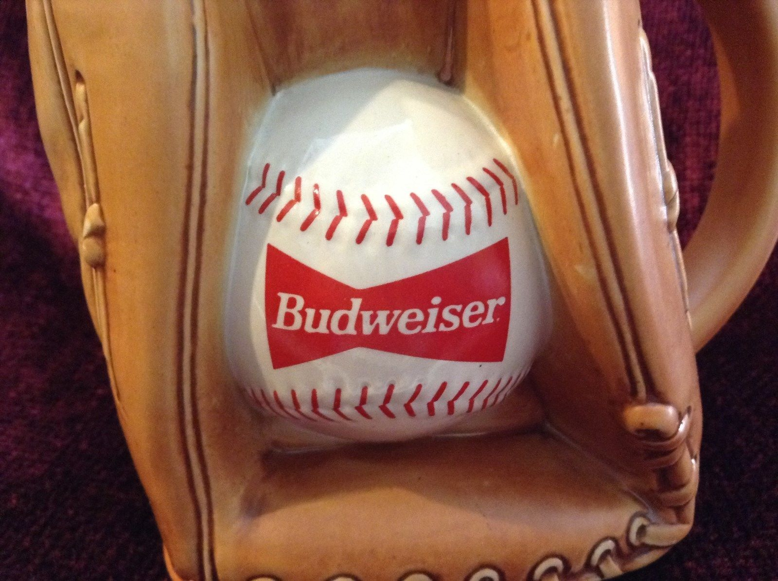 Budweiser Baseball Mitt Stein Great for Beer or Baseball Enthusiast New in Box