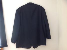Black Suit Jacket by Vit Tario Vasari Single Button Inside Pockets Size 52R image 6