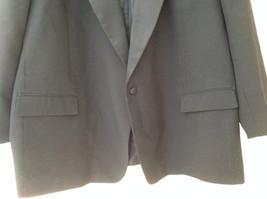 Black Suit Jacket by Vit Tario Vasari Single Button Inside Pockets Size 52R image 2