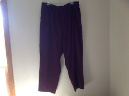 Burgundy Elastic Waist Alfred Dunner Pants Two Pockets Size 22W