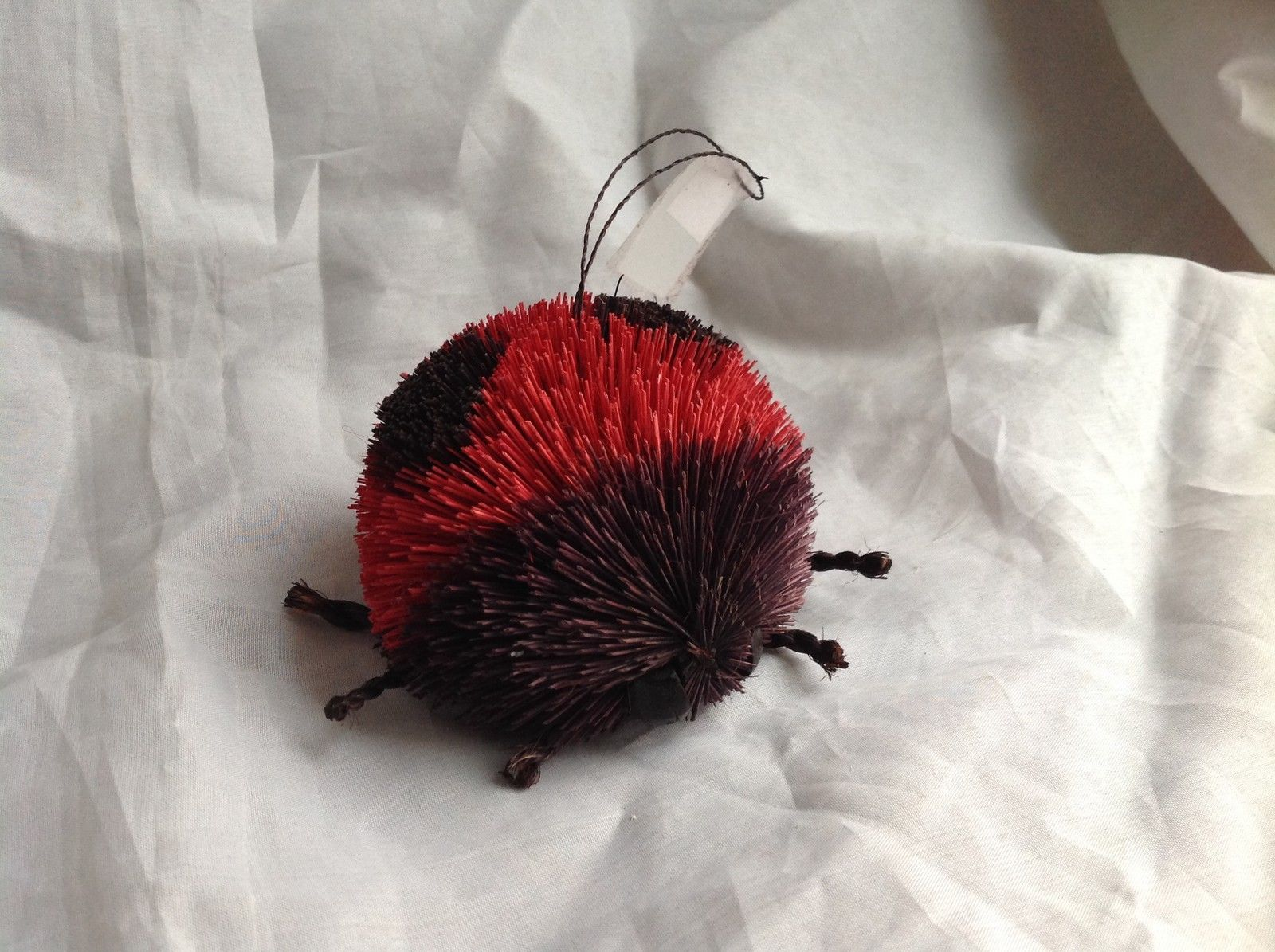 Buri  Palm Fiber Lady Bug Brush Animal Eco Fiber Sustainable Made in Philippines