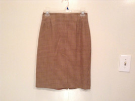 Brown Plaid Size 4 Liz Claiborne Classics Skirt Fully Lined Back Zipper Closure