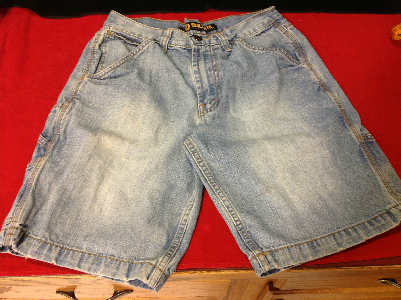 Built Rite Light Blue Denim Ladies Shorts Size 28