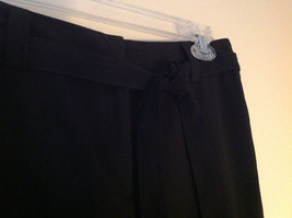 Black Tie Belt Casual Pants Zipper Button 2 Clasp Closure Geoffrey Been Size 4S image 3