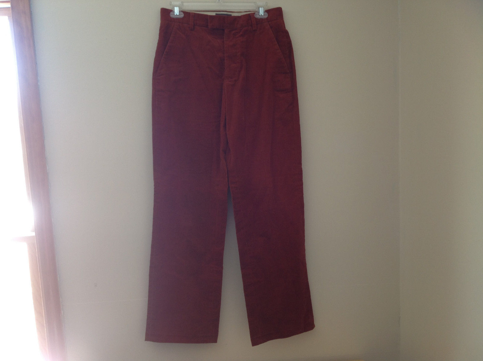 Burnt Orange Corduroy Work Pants by Banana Republic 4 Pockets Size 29 by 32