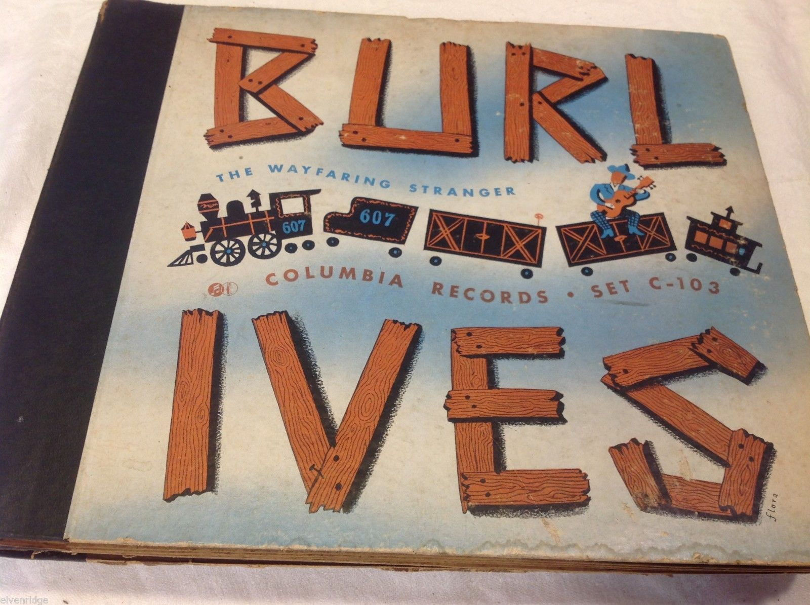 Burl Ives  vintage record set in original sleeves slipcover Wayfaring Stranger
