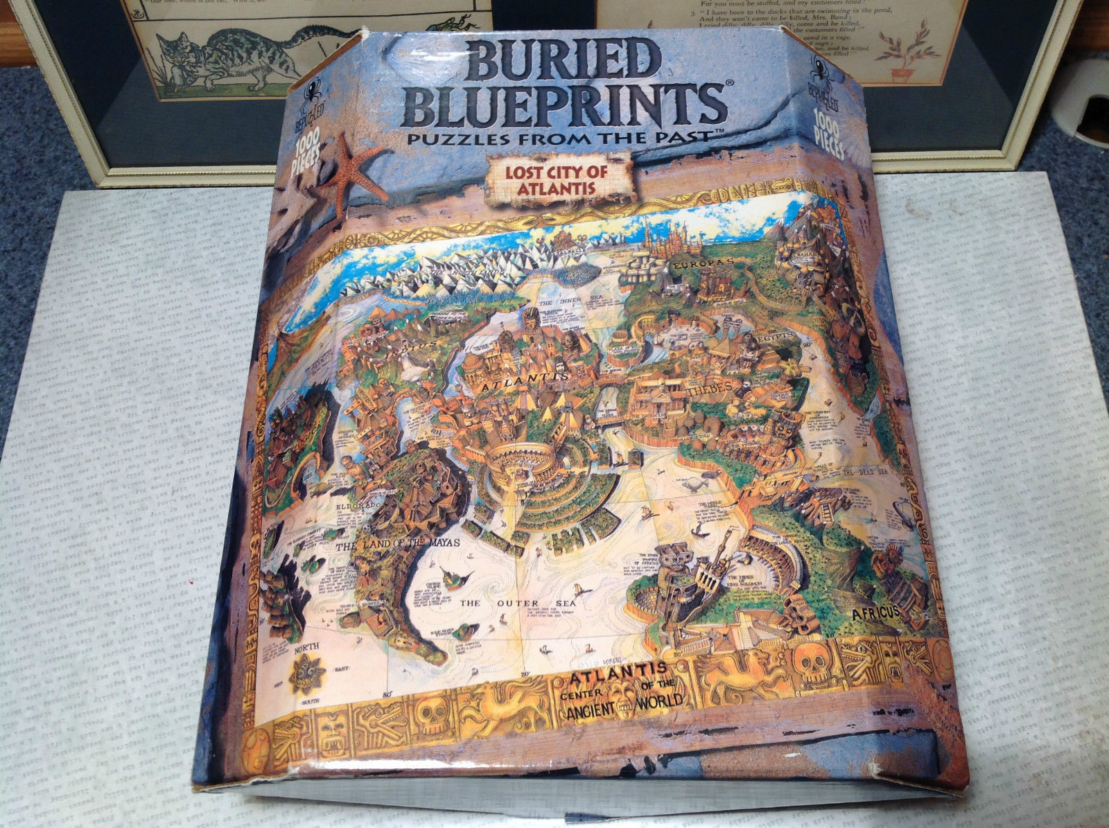 Buried Blueprints Lost City of Atlantic 1000 Piece Puzzle NIB Jigsaw