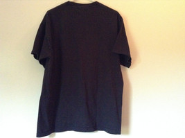 Black Warning Short Sleeve T Shirt 100 Percent Cotton Measurements Below image 4