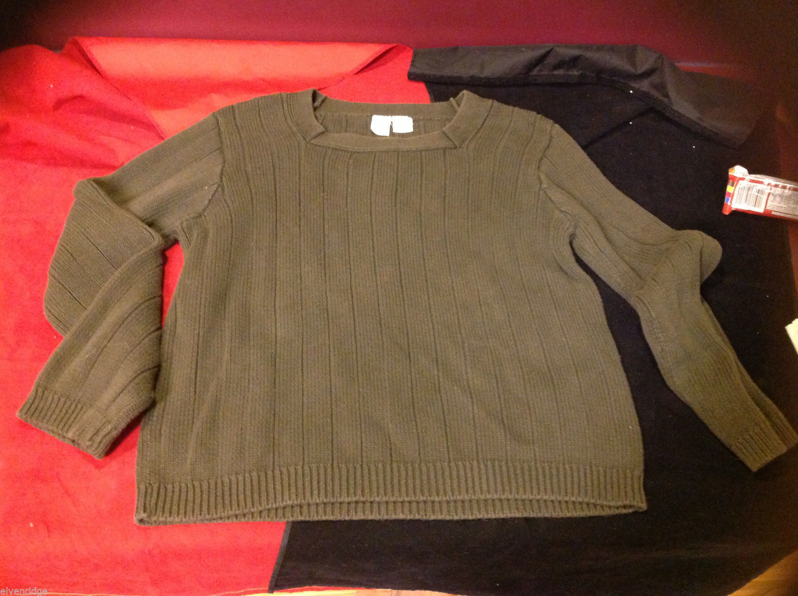CW Womens Green Knit Sweater size Medium M