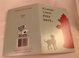 Canine Gift Greeting Card  DOG IS GOOD Always Leave Your Mark
