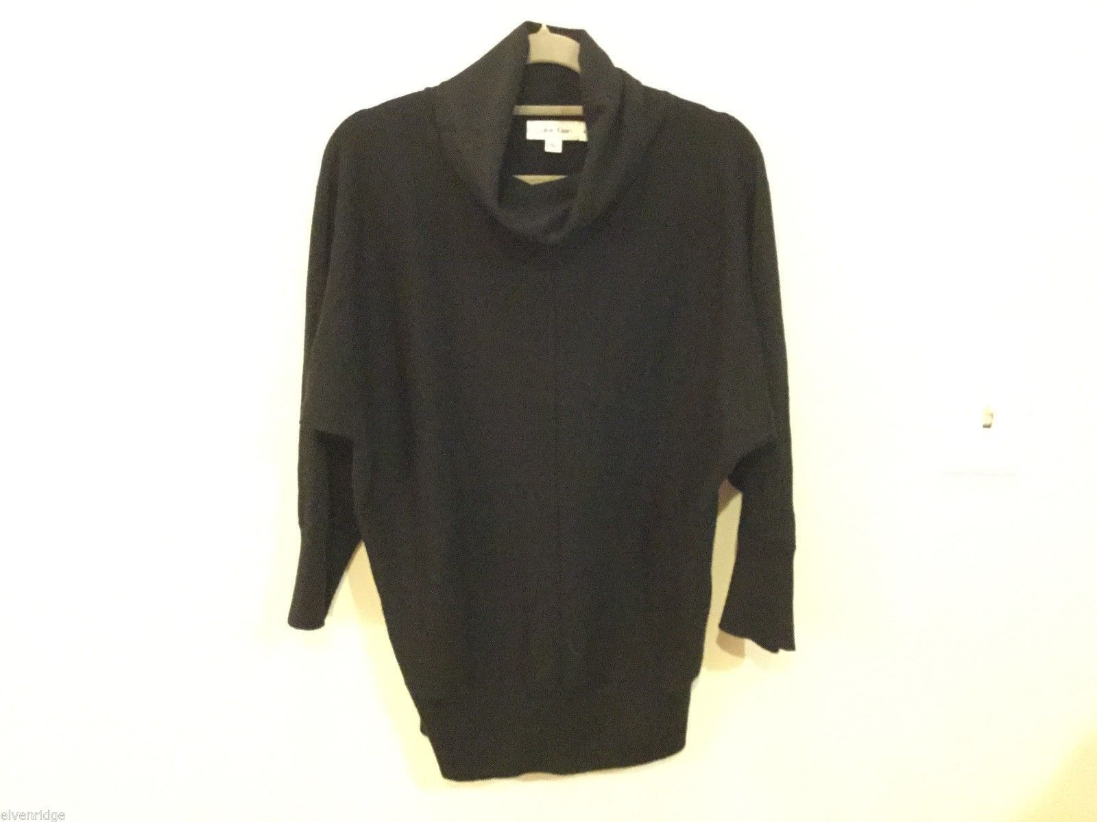 Calvin Klein Womans Black Turtleneck Sweater, Size Medium