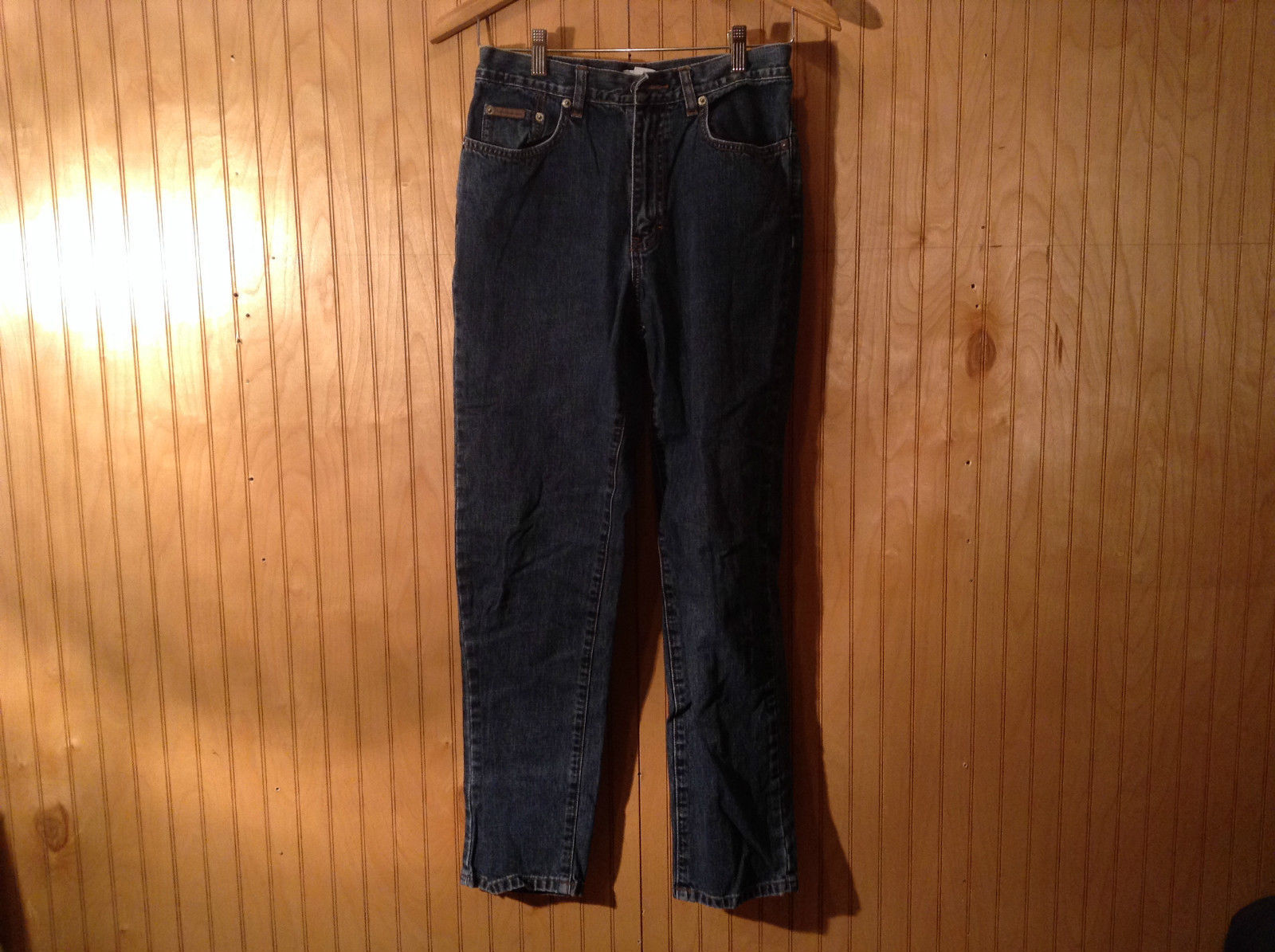 Calvin Klein Dark Denim Jeans Front and Back Pockets Size 6 Very Good Condition