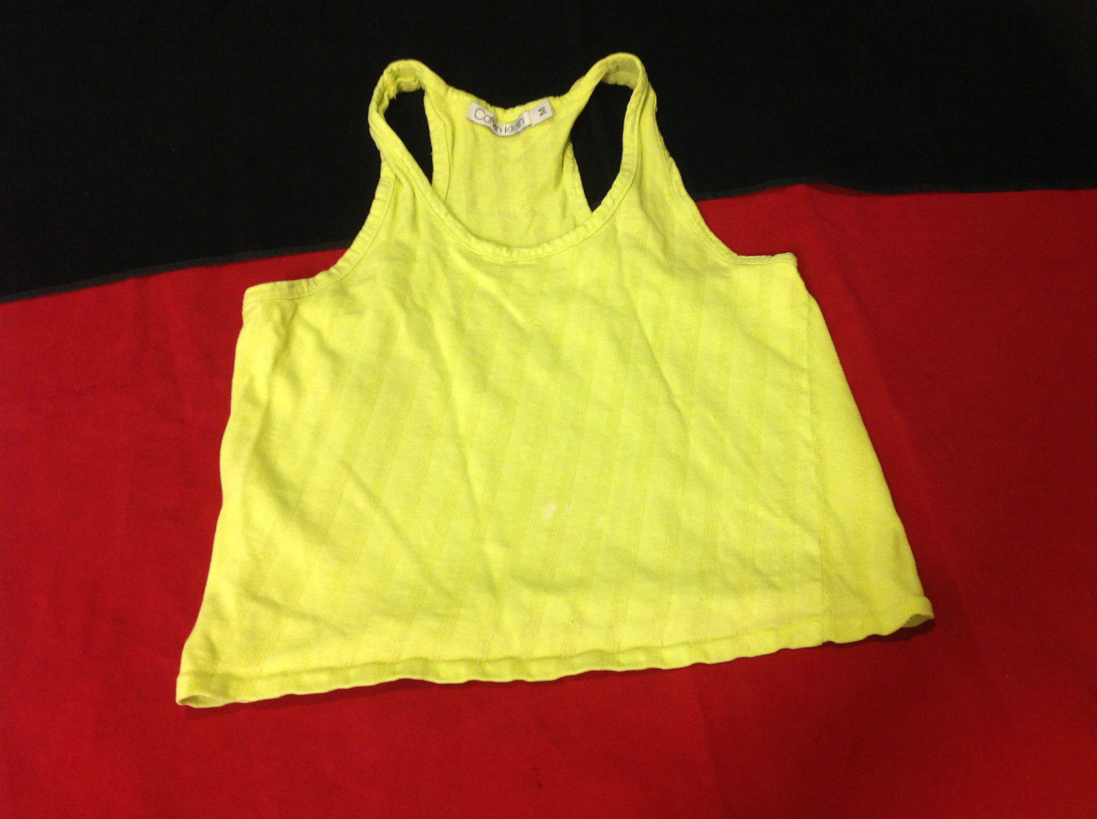Calvin Klein Ladies Sport Shirt N Sleeve Neon Green Size Medium