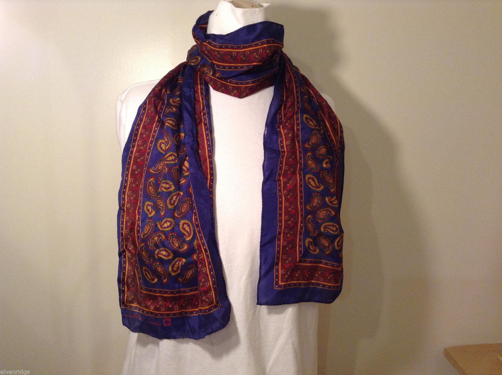 Calvin Klein blue-red scarf paisley pattern