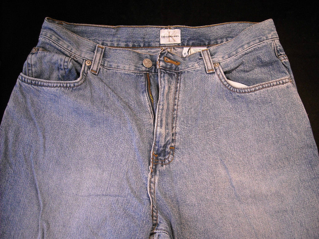 Calvin Klein Women's size 10 Straight Legged Blue Jeans