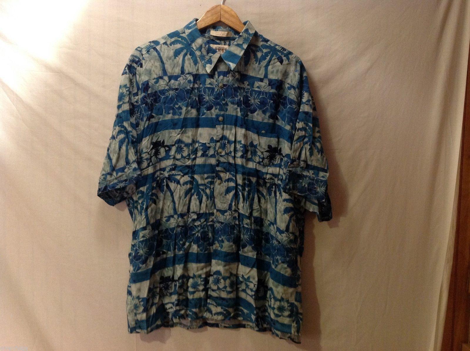 Campia Moda Mens Hawiian Shirt, Size XXL