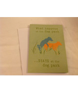 Canine Gift Greeting Card  DOG IS GOOD What Happens @ Dog Park Stays @ D... - $4.95