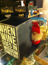 Black Wooden Box Wine Caddy Wine Goes In Wisdom Comes Out and Wine Talking image 3