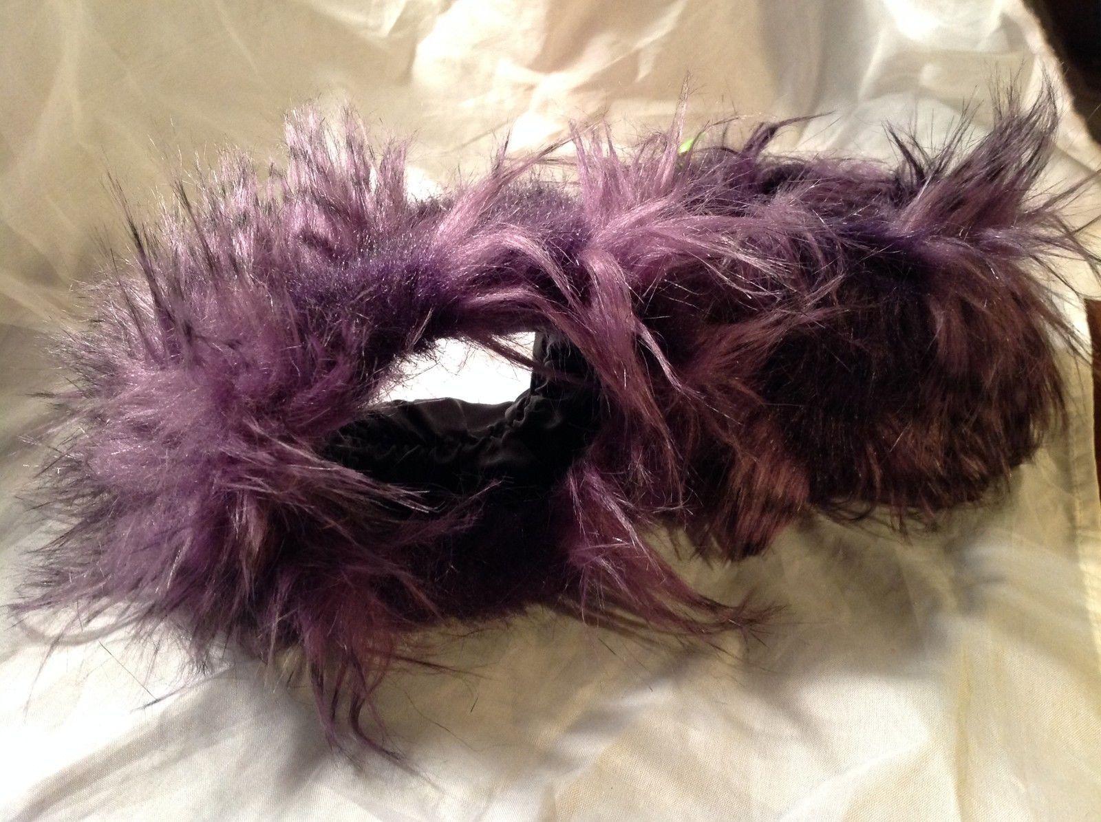 Caron Miller Fuzzy Purple Wrist Cuffs