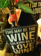 Black Wooden Box Wine Caddy Wine Goes In Wisdom Comes Out and Wine Talking image 4