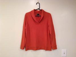 Carole Little Size 1X Soft Deep Orange Long Sleeve V Neck Sweater Very Nice