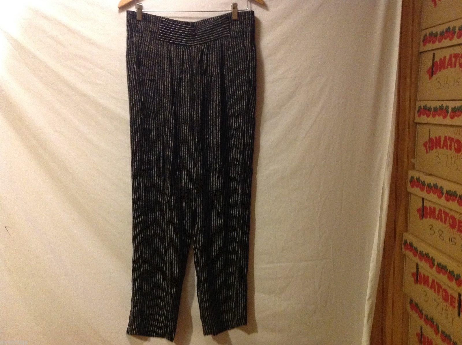 Carole Little Womans Pinstriped Pants