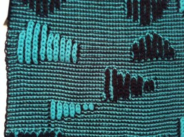 Black and Turquoise Infinity scarf warm fashion accent image 4