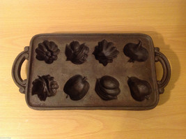 Cast Iron Cookie Mold Heavy Bake 8 Different Shaped Cookies or Muffins