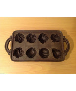 Cast Iron Cookie Mold Heavy Bake 8 Different Shaped Cookies or Muffins - $39.59