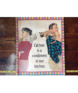 Cat Hair is a Condiment People with Cats Printed Dish Towel by Fiddlers ... - $15.83