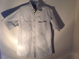 Casual Off White Button Up Collared Short Sleeve Shirt Carhartt 2 Pockets