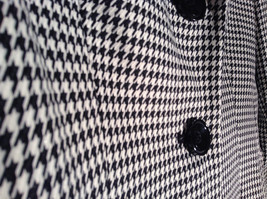 Black and White Houndstooth Button Up Blazer by Kasper Size 12 Padded Shoulders image 2