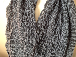 Black and Gray Boho Style Scarf with Dots image 3