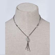 Black and White Necklace Hematite Chain   image 2