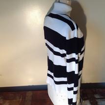 Black and White Striped Long Sleeve Turtleneck Sweater Worthington Size XL image 4