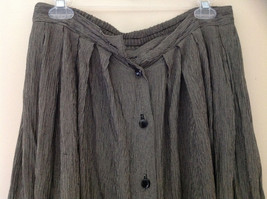 Black and White Skinny Striped Button Up Flowing Skirt by Rafaella Size Large image 2