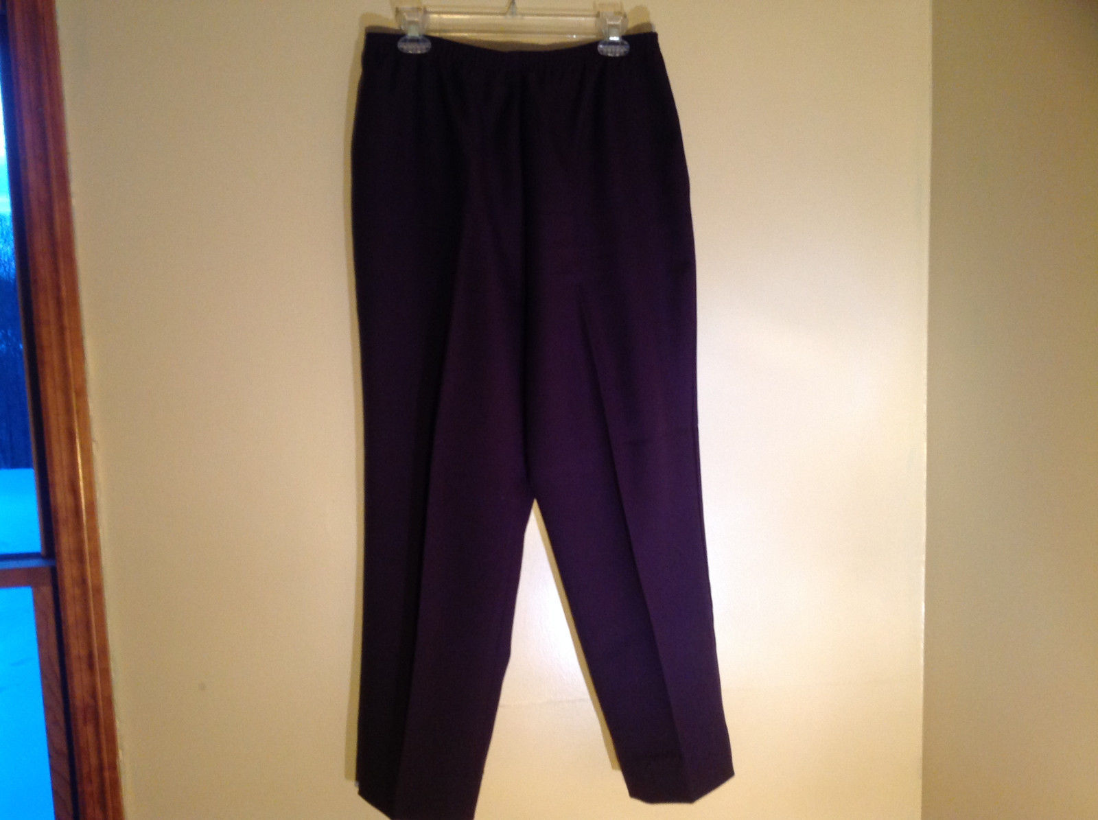 Cedar Hill Dark Purple Dress Pants with Elastic Waistband Size 10