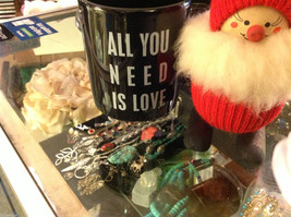 Ceramic Black Coffee Mug with All you need is LOVE saying