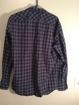 Blue Green Red Plaid Button Up Long Sleeve GAP Shirt 2 Front Pockets Size Large image 4