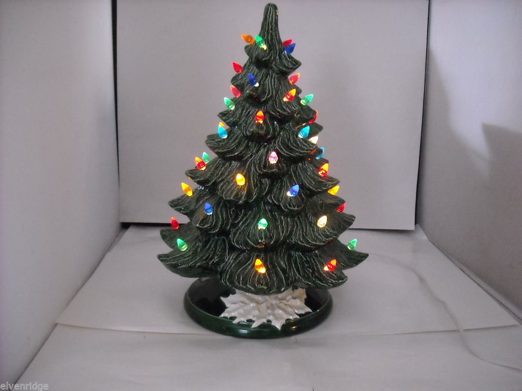Ceramic Christmas Tree with Multicolored Lights