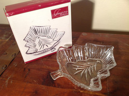 Celebration by Mikasa Clear Glass Christmas Tree Dish Original Box