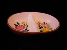 Ceramic Stangl Double section Bowl fruit flower design