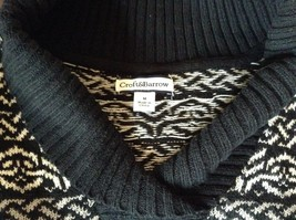 Black with White and Gray Soft Long Sleeve Croft and Barrow Sweater Size Medium image 5