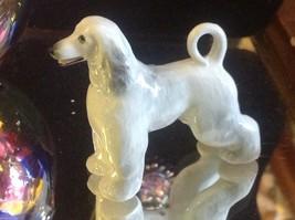 Ceramic miniature dog Afghan hound standing regally image 1