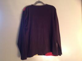 Blair 2 Piece Coordinating Brown Colored Flower Patchwork Shirt Pant Set  Size M image 4