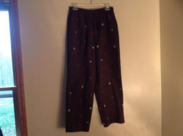 Blair 2 Piece Coordinating Brown Colored Flower Patchwork Shirt Pant Set  Size M image 5