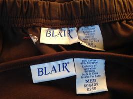 Blair 2 Piece Coordinating Brown Colored Flower Patchwork Shirt Pant Set  Size M image 7
