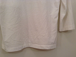 Blanca White Top Decoration on Front Scoop Neck No Tag Measurements Below image 5