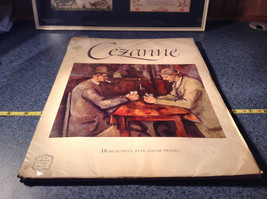 Cezanne 16 Beautiful Full Color Prints Book 1952 Good Condition